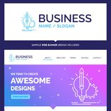 Beautiful Business Concept Brand Name Idea, insight, key, lamp royalty free illustration