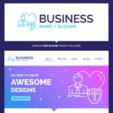 Beautiful Business Concept Brand Name insurance, family, home, p stock illustration