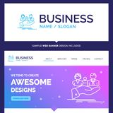 Beautiful Business Concept Brand Name insurance, health, family royalty free illustration