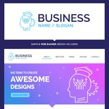 Beautiful Business Concept Brand Name knowledge, management, sha royalty free illustration