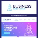 Beautiful Business Concept Brand Name launch, startup, ship, shu stock illustration