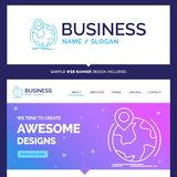 Beautiful Business Concept Brand Name location, globe, worldwide royalty free illustration