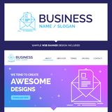 Beautiful Business Concept Brand Name mail, contract, letter, em stock illustration