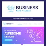 Beautiful Business Concept Brand Name marketing, megaphone, anno royalty free illustration