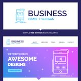 Beautiful Business Concept Brand Name media, music, player, vide vector illustration