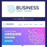 Beautiful Business Concept Brand Name moon, planet, space, squar vector illustration