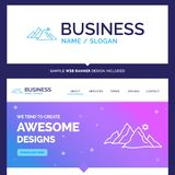 Beautiful Business Concept Brand Name mountain, landscape, hill vector illustration
