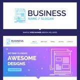 Beautiful Business Concept Brand Name news, newsletter, newspape vector illustration