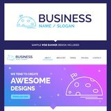 Beautiful Business Concept Brand Name planet, space, moon, flag stock illustration