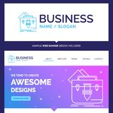Beautiful Business Concept Brand Name portfolio, Bag, file, fold royalty free illustration