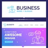 Beautiful Business Concept Brand Name professor, student, scient vector illustration