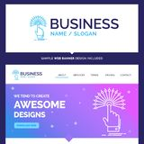 Beautiful Business Concept Brand Name reach, Touch, destination royalty free illustration