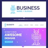 Beautiful Business Concept Brand Name robot, Android, artificial vector illustration