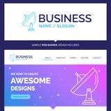 Beautiful Business Concept Brand Name satellite, antenna, radar royalty free illustration