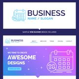 Beautiful Business Concept Brand Name schedule, classes, timetab vector illustration