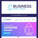 Beautiful Business Concept Brand Name Security, cyber, lock, pro vector illustration
