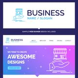 Beautiful Business Concept Brand Name shop, donate, shopping, on stock illustration