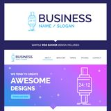 Beautiful Business Concept Brand Name smart watch, smartwatch, w royalty free illustration