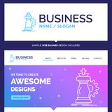 Beautiful Business Concept Brand Name strategy, chess, horse, kn royalty free illustration