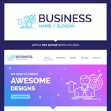 Beautiful Business Concept Brand Name success, user, target, ach stock illustration