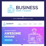 Beautiful Business Concept Brand Name support, chat, customer, s vector illustration