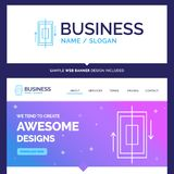Beautiful Business Concept Brand Name sync, synchronization, dat. A, phone, smartphone Logo Design and Pink and Blue background Website Header Design template stock illustration