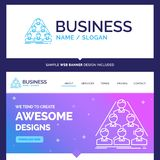 Beautiful Business Concept Brand Name team, build, structure, bu royalty free illustration