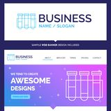 Beautiful Business Concept Brand Name Test, Tube, Science, labor vector illustration