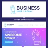 Beautiful Business Concept Brand Name touch, click, hand, on, st royalty free illustration