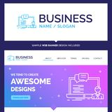 Beautiful Business Concept Brand Name training, course, online stock illustration