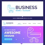 Beautiful Business Concept Brand Name trolly, baby, kids, push royalty free illustration