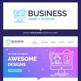Beautiful Business Concept Brand Name tutorials, video, media, o stock illustration