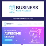 Beautiful Business Concept Brand Name VR, googles, headset, real vector illustration