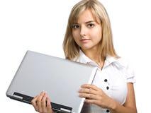 The beautiful business girl Stock Photos