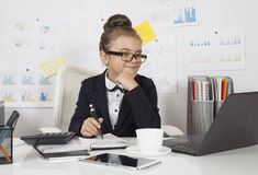 Beautiful business girl working Royalty Free Stock Images