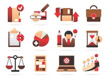 Beautiful Business Icons Royalty Free Stock Photography