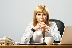 Beautiful Business Lady Royalty Free Stock Photography
