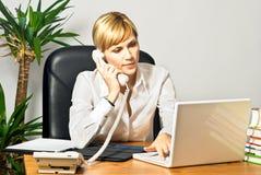 Free Beautiful Business Lady At Desk Stock Photo - 11230260