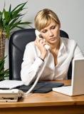 Beautiful Business Lady at Desk Stock Photos