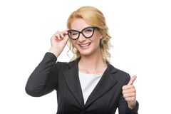 Beautiful business lady in glasses Stock Photography
