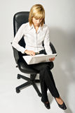Beautiful Business Lady with Laptop Stock Photography