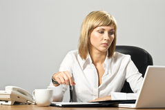 Beautiful Business Lady with Laptop Royalty Free Stock Photo