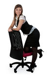 Beautiful business lady standing chair Royalty Free Stock Photography