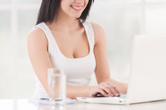 Beautiful business lady at work. Stock Photography