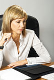 Beautiful Business Lady Writing Royalty Free Stock Image