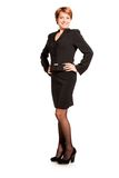 Beautiful business woman. Standing on white background Royalty Free Stock Image
