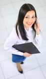 The beautiful business woman Royalty Free Stock Photography