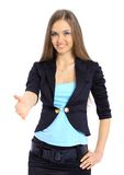 The beautiful business woman Stock Photo