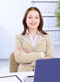 The beautiful business woman Stock Image