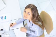 The beautiful business woman Royalty Free Stock Photos